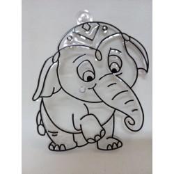 Plastová sklíčka k vybarvení sloník
