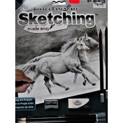 Kreslení podle čísel, koně