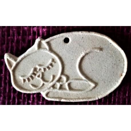 Keramické omalovánky, spící kočka