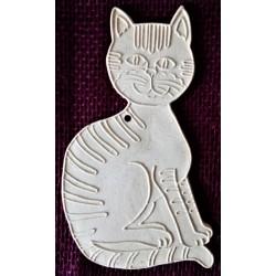 Keramické omalovánky, sedící kočka, mourovatá, velká