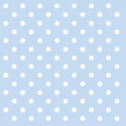 Ubrousek světle modrý s puntíky 33x33cm