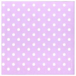 Ubrousek fialový s puntíky 33x33 cm
