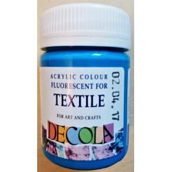 Barva na textil fluorescentní, Azurová, Decola, 50 ml