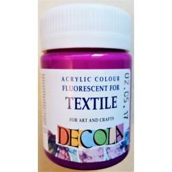 Barva na textil fluorescenční, Fialová, Decola, 50 ml