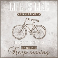 Ubrousek life is like riding a bicycle 33x33 cm