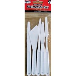 Špachtle plastové, sada 5 ks, Meyco
