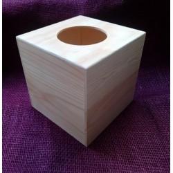 Dřevěná krabička na kapesníky čtverec