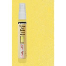 Barva na textil Vintage, Citronová žlutá, 30 ml, DailyART