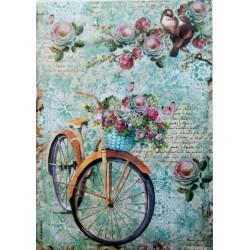 Rýžový papír, Květinové kolo, A4, Stamperia