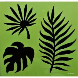 Šablona, Listy, š. 18,5cm x 22,5cm