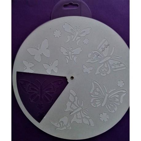 Šablona plastová, Motýlci, průměr 25cm