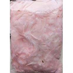 Peří, barva světle růžová, 10 g