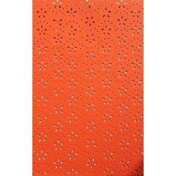Pěnovka, Moosgummi s výsekem kytiček, Oranžová, A4