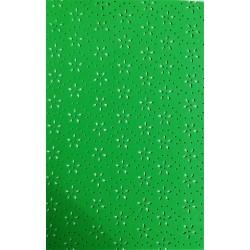 Pěnovka, Moosgummi s výsekem kytiček, Zelená, A4