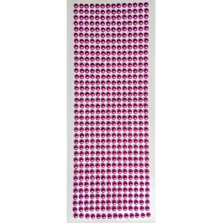 Samolepící perličky, fialkové, vel. 0,5cm, plato  504 ks