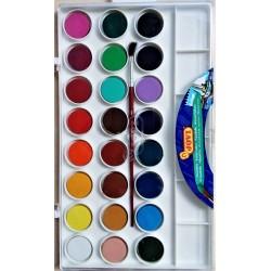 Vodové barvy, sada, 24 barev