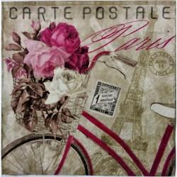Ubrousek, Růžové kolo s květinami