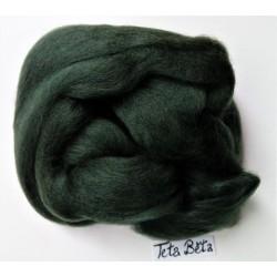 Ovčí rouno česané, barva zelená temná, 20 g