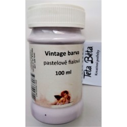 Barva Vintage, křídová, fialová pastelová, 100 ml