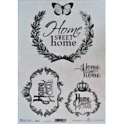 Rýžový papír, Home sweet home, A4