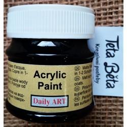 Akrylová barva matná, černá, 50 ml