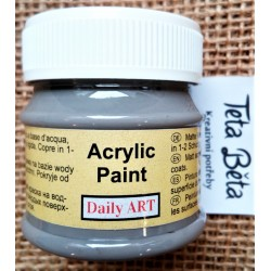 Akrylová barva matná, šedá, monzunová, 50 ml