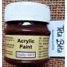 Akrylová barva matná, tmavě hnědá, 50 ml