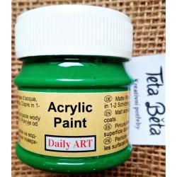 Akrylová barva matná, zelená, 50 ml