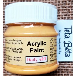 Akrylová barva matná, šafránově žlutá, 50 ml