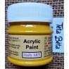 Akrylová barva matná, žlutá, 50 ml