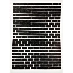 Šablona, cihlová zeď, A5