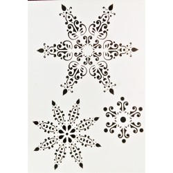Šablona plastová, Sněhová vločka, A4