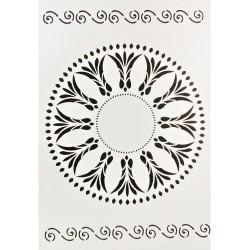 Šablona plastová, Mandala, ornament krajový, A4