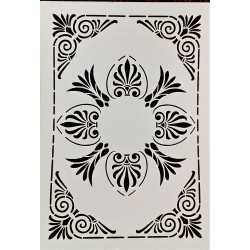 Šablona plasová, Mandala, rohový ornament, A5