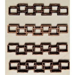 Výřezy, Cihlová zeď, pásky, sada 4 ks