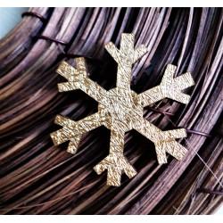 Výřezy z překližky, Sněhová vločka zlatá,  3,7cm