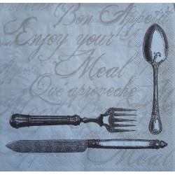 Ubrousek, Příbory, Bon Appetit, 33x33 cm