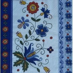 Ubrousek, Lidový motiv - květiny, 33x33 cm