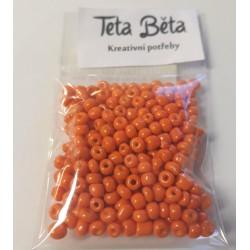 Rokajl 4 mm, Oranžová barva, balení 20 g