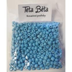 Korálky, Modrá barva, 4 mm, 50 g