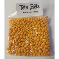 Korálky, Žlutá barva, 4 mm, 50 g