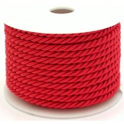 Šňůrka kroucená červená,  průměr 3 mm, 9 m