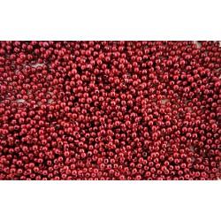 Dekorační perly, zářivě červené, 3 mm