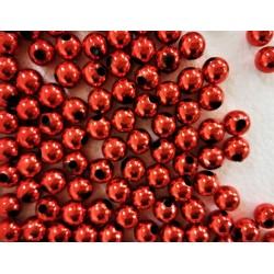 Dekorační perly zářivě červené, 8 mm
