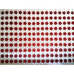 Samolepící kytičky červené průhledné, 396 ks