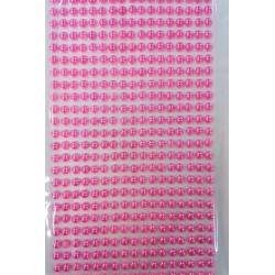 Samolepící perličky růžové, 0,5 cm, 646 kusů v balení