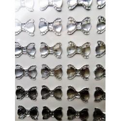 Samolepící akrylové diamanty, mašlička, 56 kusů