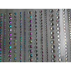 Samolepící akrylové diamanty, barevné, 640 ks