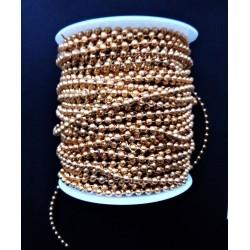 Zlaté korálky na šňůrce, 4mm