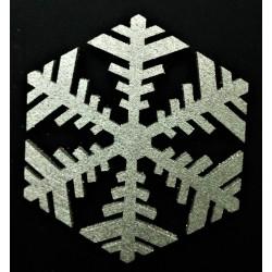 Výřez z překližky, Vločka stříbrná, 7,5 cm